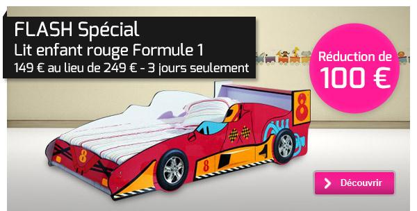 Lit Enfant Formule Rouge Ou Bleu JBlog Déco Design - Lit formule 1 pas cher